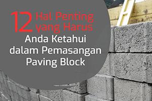 pemasangan paving block